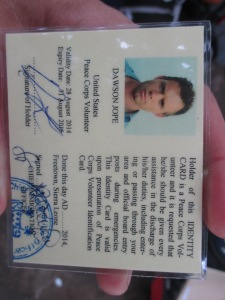 My now returned Sierra Leone immigration card