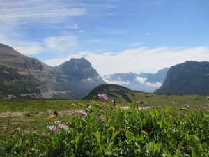 Logan Pass, top of Gong to the Sun Road, looking east