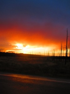A Yellowstone sunset
