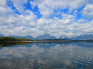 The Tetons from the east side of Jackson Lake