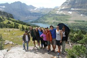 Group Picture at Hidden Lake, Glacier National Park