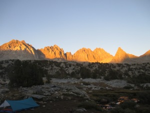 Dusy Basin Sunset