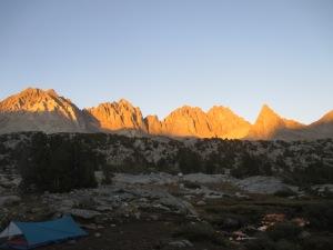 Dusy Basin Sunset