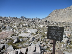 Top of Bishop Pass