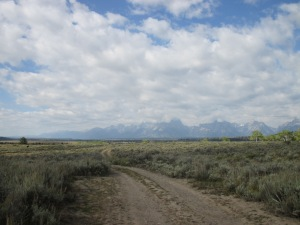 The Grand Tetons from the foothills of the Wind River Range, in northwestern Wyoming