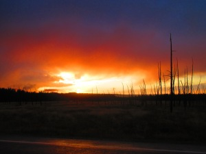Sunset in Yellowstone National Park