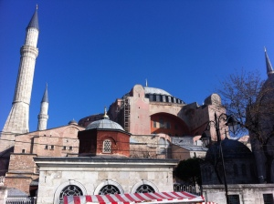 Exterior of the Hagia Sophia