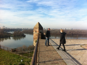 Confluence of the Sava and Danube Rivers from Kalemegdan Fortress