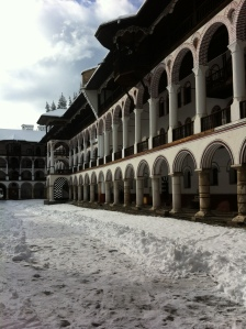 Living quarters of the monks at Rila Monastery