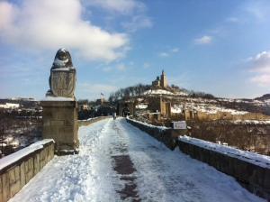 On the road to the hilltop fortress of Tsarevets in Veliko Tarnovo. Tsarevets Fortress definitely added to the Disney-like charm of Veliko.