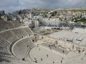 My view from the top of the Roman Amphitheater