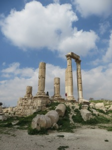Ancient ruins atop the Amman citadel