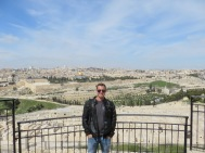 On the Mount of the Olives overlooking Jerusalem