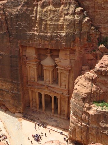 The Treasury of Al Khazneh from above