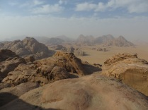 The Wadi Rum stretched seemingly forever in any direction