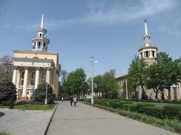 Communist buildings in Bishkek