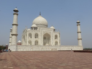 The Taj Mahal from the south face, where it's possible to get a close and unobstructed photo