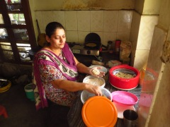 Manjinder making some delicious chapati