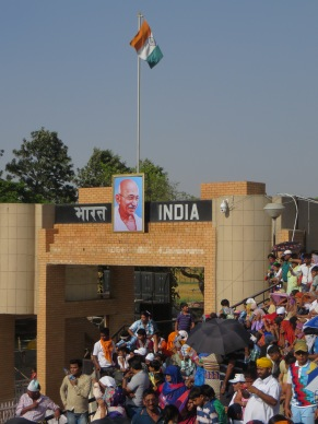 Grandstands at the Wagah- Attari Border