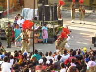 Returning the flag of India to the Border Security Guard's office