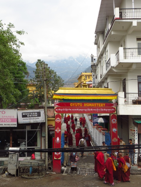 The entrance to Gyuto Monastery in Dharamshala