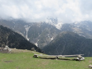 Our view from the 9,500ft (or 2,850meter) summit of Triund plateau