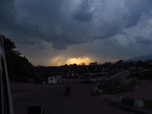 Sunset after the rainstorm in McLeod Ganj