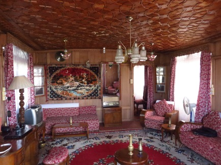 The interior of our houseboat. Amanda and I couldn't believe the deal we received. Look at the rugs, the ceiling, the furniture. Somehow we had this boat all to ourselves for two days.