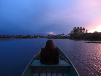 Amanda enjoying the sunset