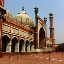 Jama Masjid from the side, showing its central dome and minarets
