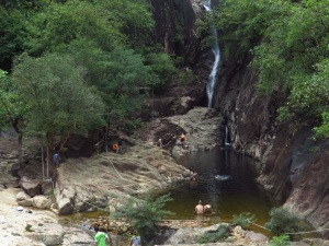 The waterfall and natural swimming pool