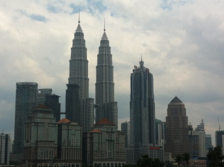 The towers dominate the skyline from every angle and vantage point