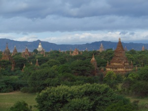 Early morning clouds rolling over Bagan