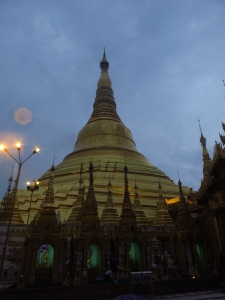 Shwe Dagon Pagoda from up close