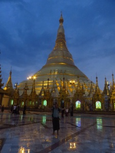 Me in front of Shwe Dagon Pagoda