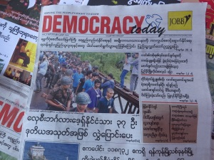 Politics is an incredibly contentious subject in Myanmar.  Despotic-to-democratic transitions, political imprisonment, and ethnic/religious persecution, and even possible genocide are all current topics of debate about Myanmar in the world community.