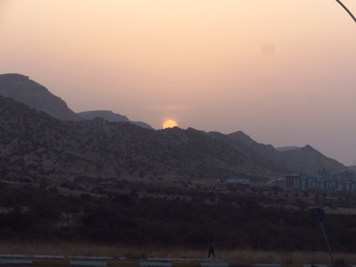 I arrived back in Duhok just as the oily Kurdish sun was dipping behind the mountains