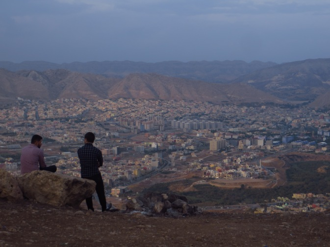VIew from the top of the service road, looking down on Duhok