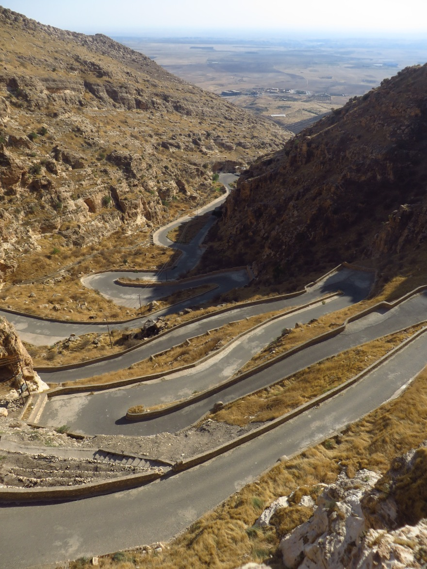 One of the most beautiful roads I've ever seen... the final approach to Rabban Hermizd Monastery