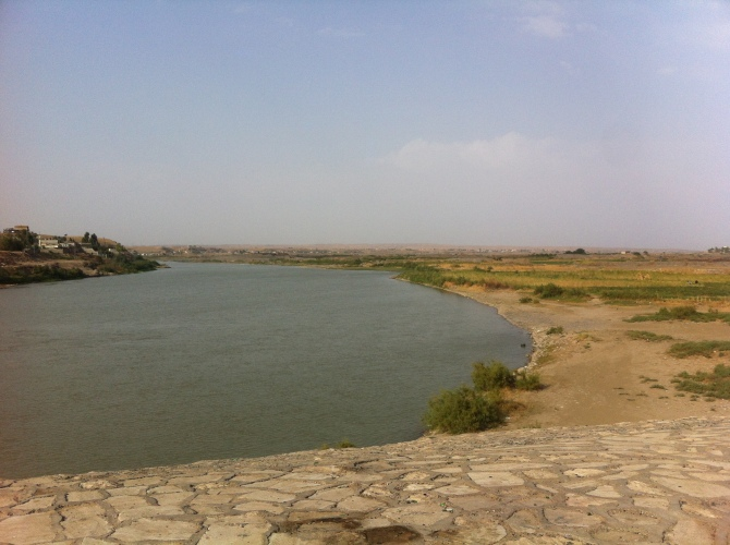 The Great Zab River, once part of the front lines