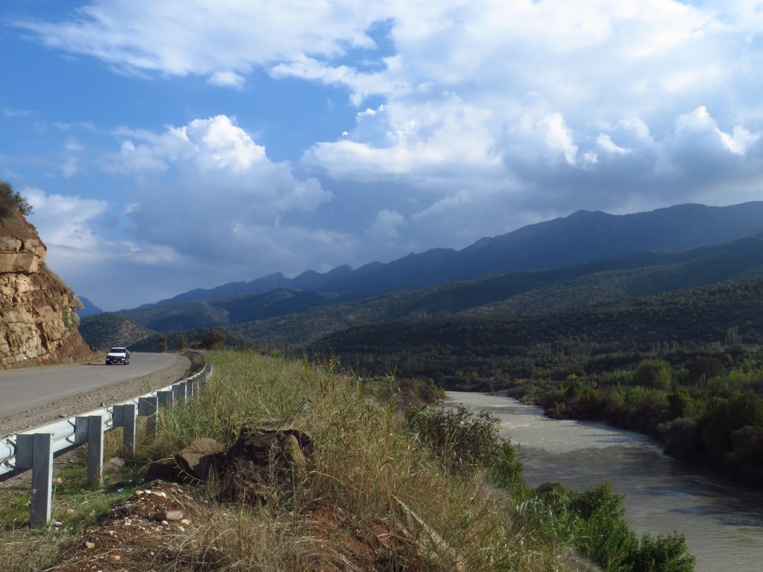 The highway followed the Great Zab River for about 100 kilometers