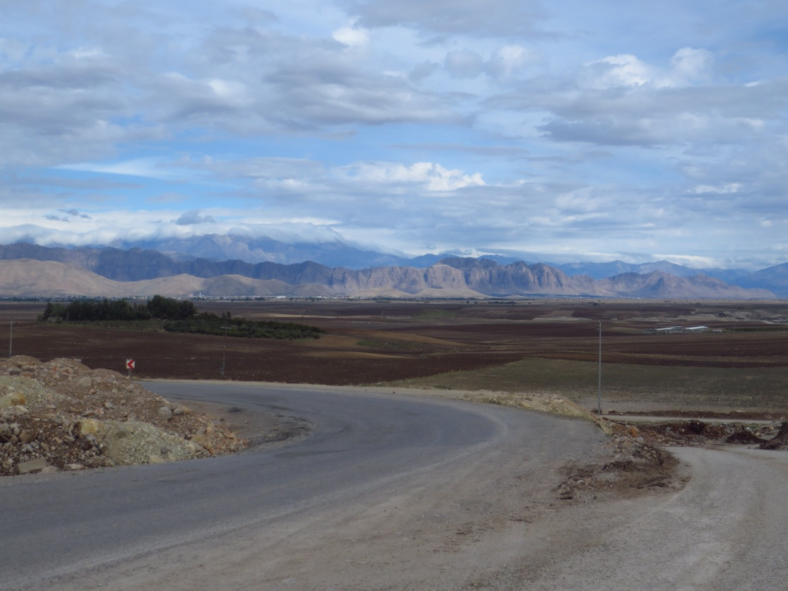 Looking east over the Ranya Plains. The mountains in the far distance form part of the Iran-Iraq border.