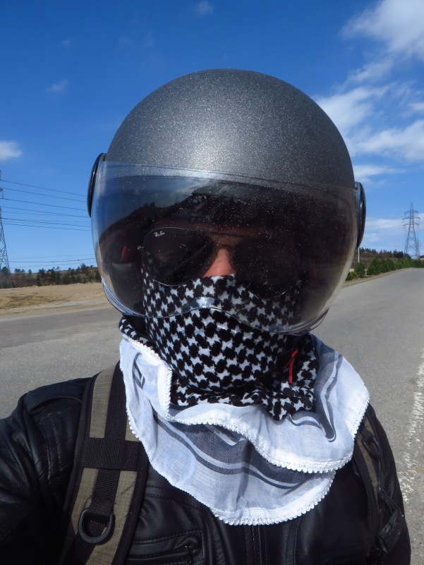 My look from Day 3 onward. At least wearing my keffiyeh led to less forced stops at checkpoints.