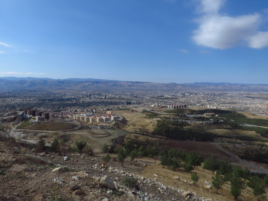 Looking down on Souleymaniyah from Goya summit at about 1200 meters