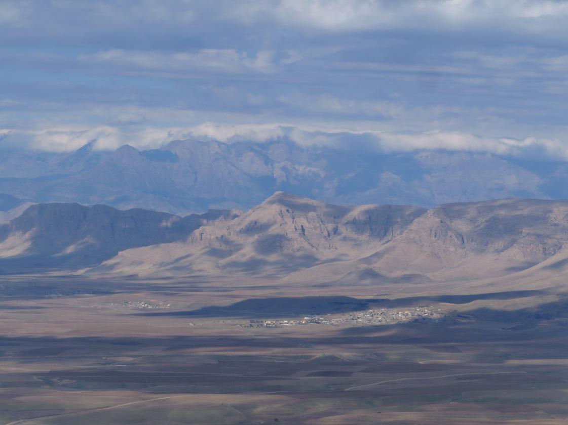 Looking northeast towards Iran