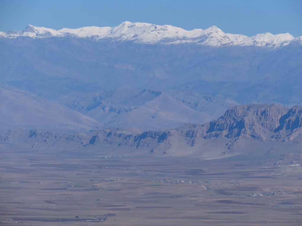 Looking northeast once again over the Ranya Plains and Lake Dokan. The heavily snowed peak in the center is 3550 meter Welati-Ciya, third tallest in Iraq.